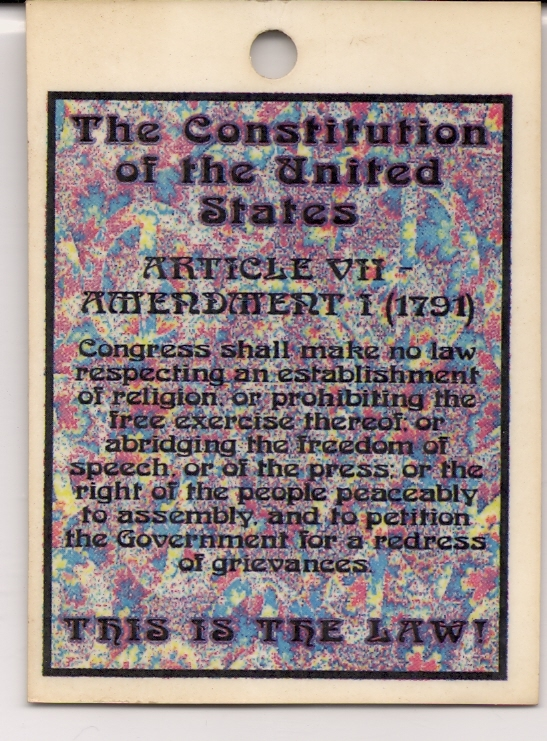 Freedom of Assembly Pass - 1999