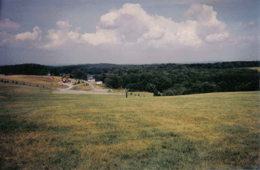The Woodstock Site - Top Plateau Looking Down - 2002